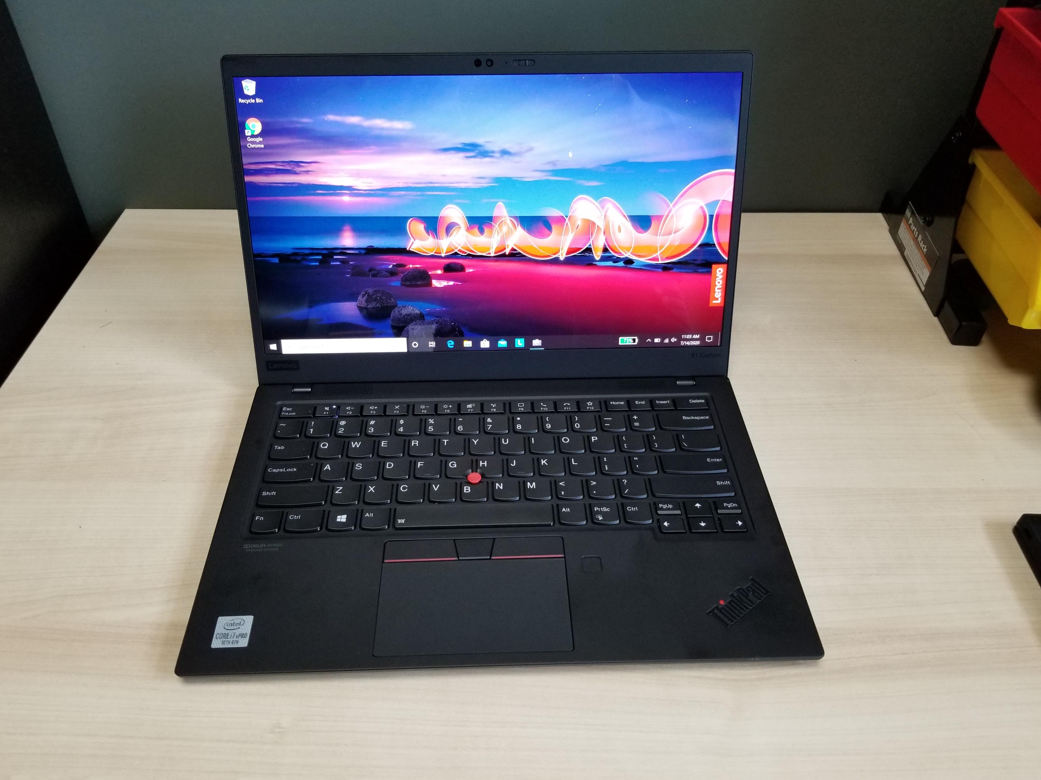 Lenovo Thinkpad X1 Carbon Gen 8 Review Terrific Typing Super Slim Tom S Hardware