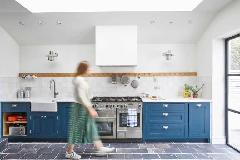 After months of extensive building work, Suzi Jench and Lewis Robinson's Victorian terrace house has been decorated in calming coastal shades and dressed in vintage finds