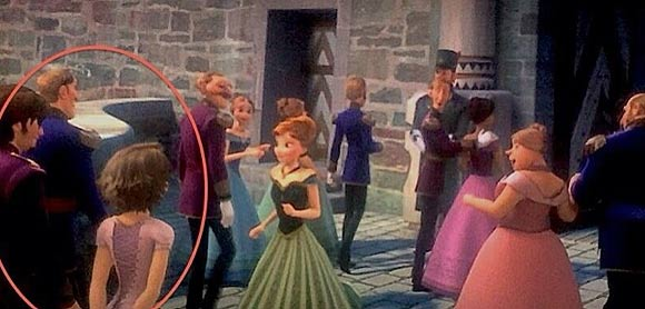 Tangled Frozen cameo