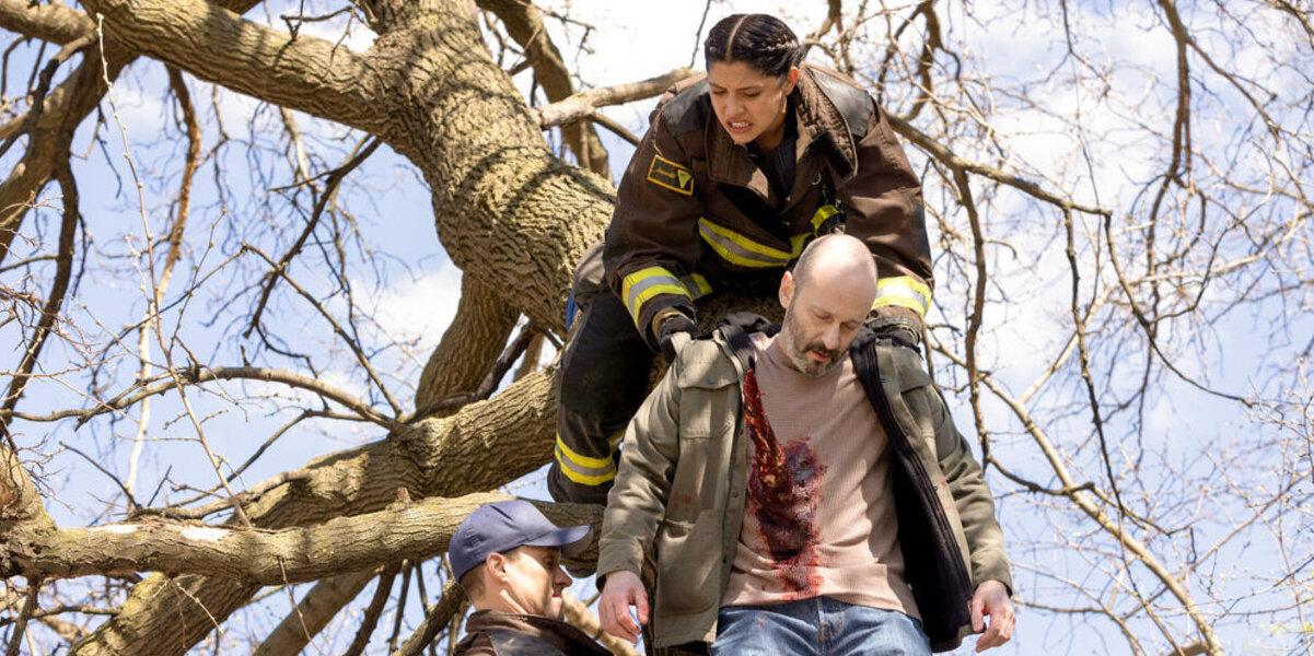 chicago fire miranda rae mayo stella kidd man impaled on tree
