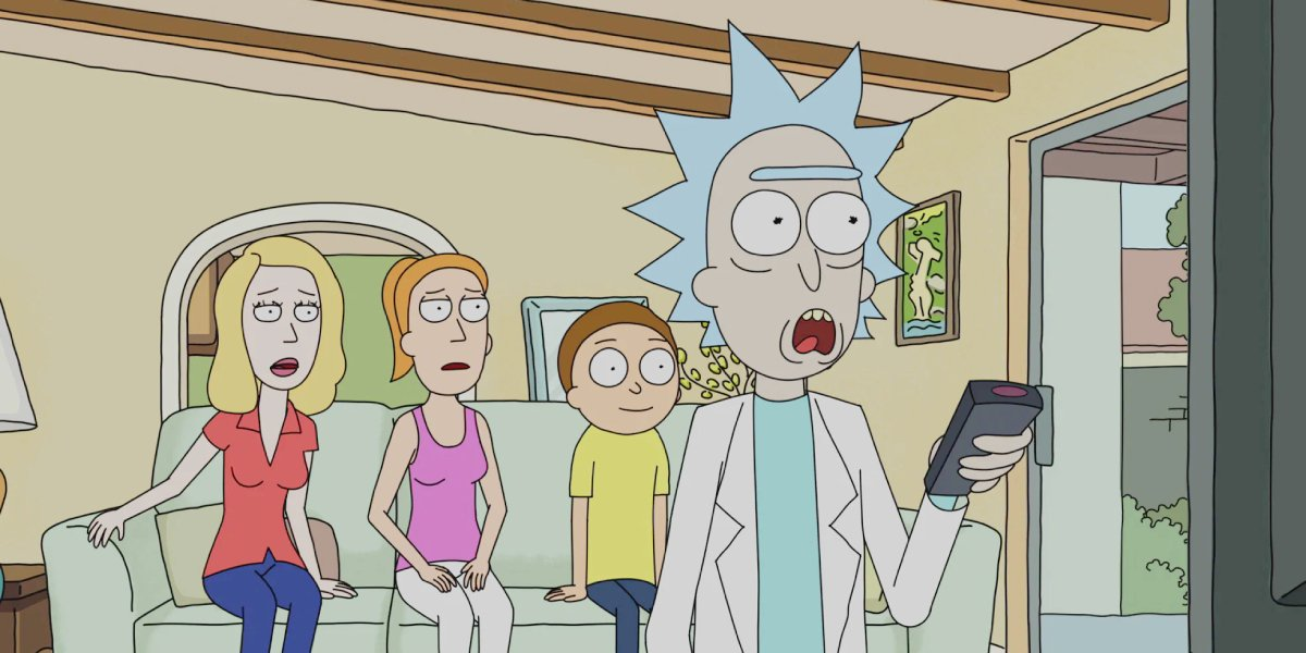 Sarah Chalke, Spencer Grammer, and Justin Roiland on Rick and Morty