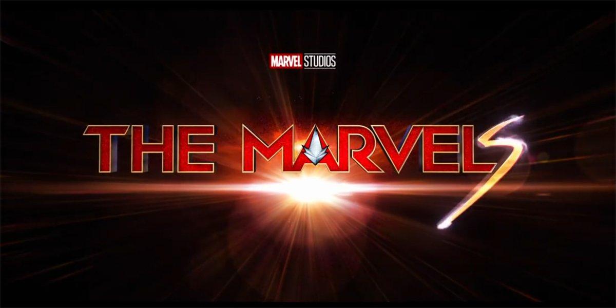 The Marvels title logo Marvel Studios