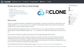 Rclone's homepage