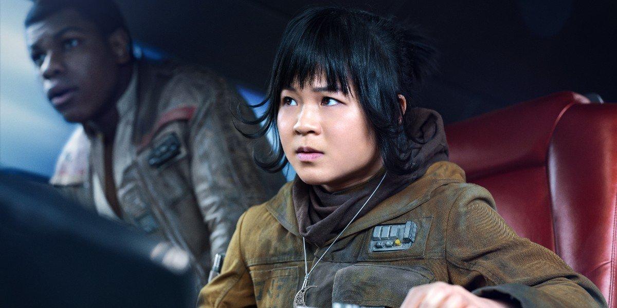 Rose Tico (Kelly Marie Tran) looks ahead in Star Wars: The Last Jedi (2017)