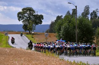 The peloton during stage 2 at 2019 Ladies Tour of Norway