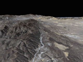 The space shuttle Endeavor captured this image of the San Andreas Fault on Feb. 11, 2000.