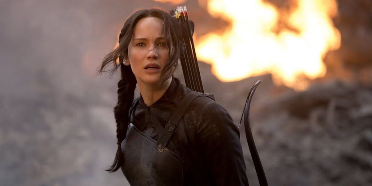 Jennifer Lawrence as Katniss Everdeen in Hunger Games