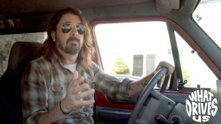 Dave Grohl in a van