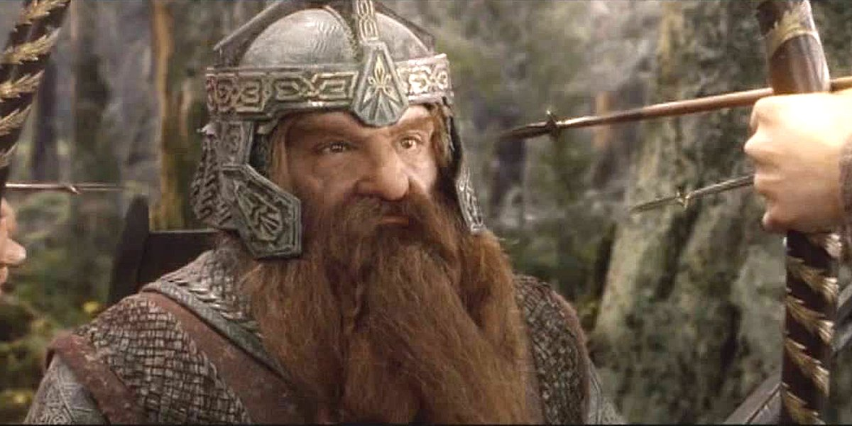 Gimli looks angry The Lord of the Rings