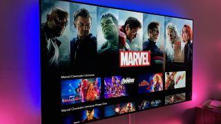 The Marvel Cinematic Universe on Disney Plus.