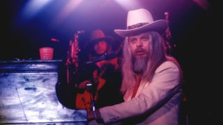Leon Russell playing piano