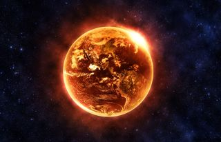Hot, burning earth, doomsday.