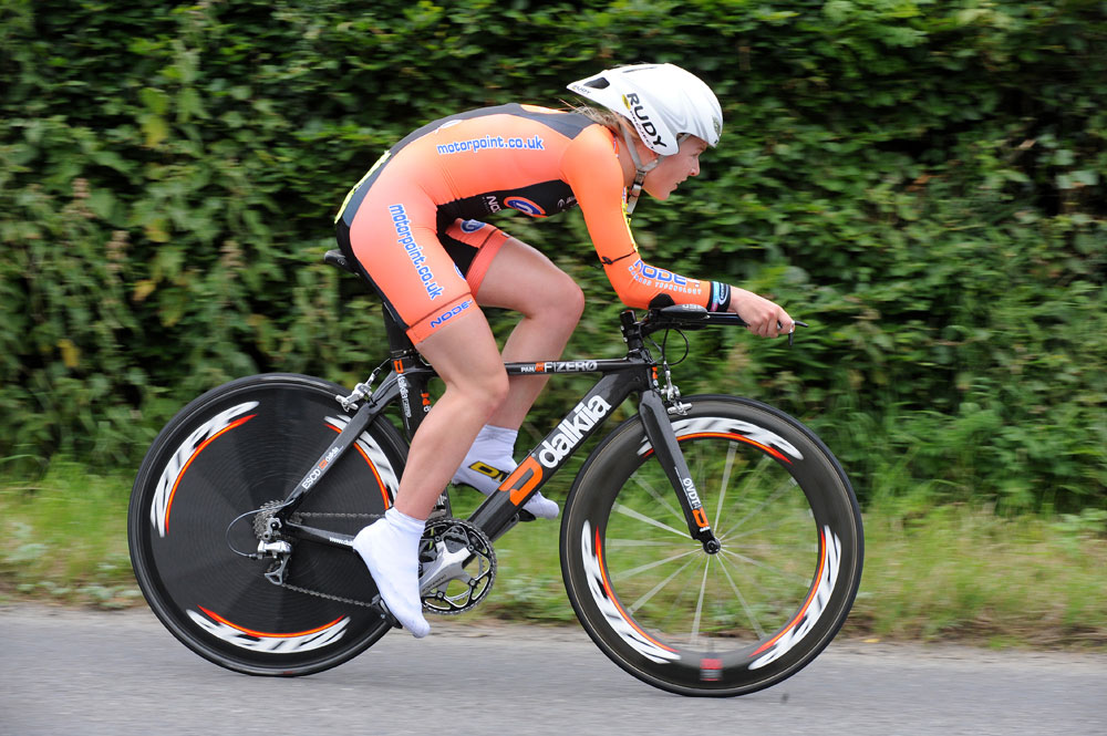 Hannah Barnes, junior women winner, British National 25-mile time trial 2011