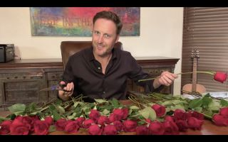 'The Bachelor' host Chris Harrison prunes roses during an Emmys 2020 segment.