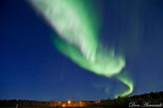 Northern Lights Ribbon Over Alberta
