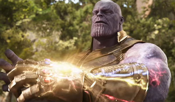 Thanos realizing his dream of a fully-equipped Infinity Gauntlet