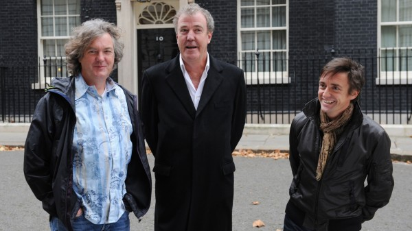 James May, Jeremy Clarkson and Richard Hammond outsdie 10 Downing Street
