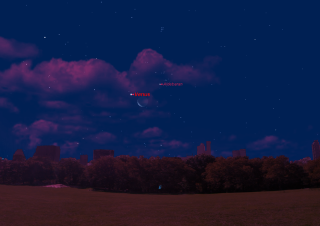 Moon, Venus and Aldebaran