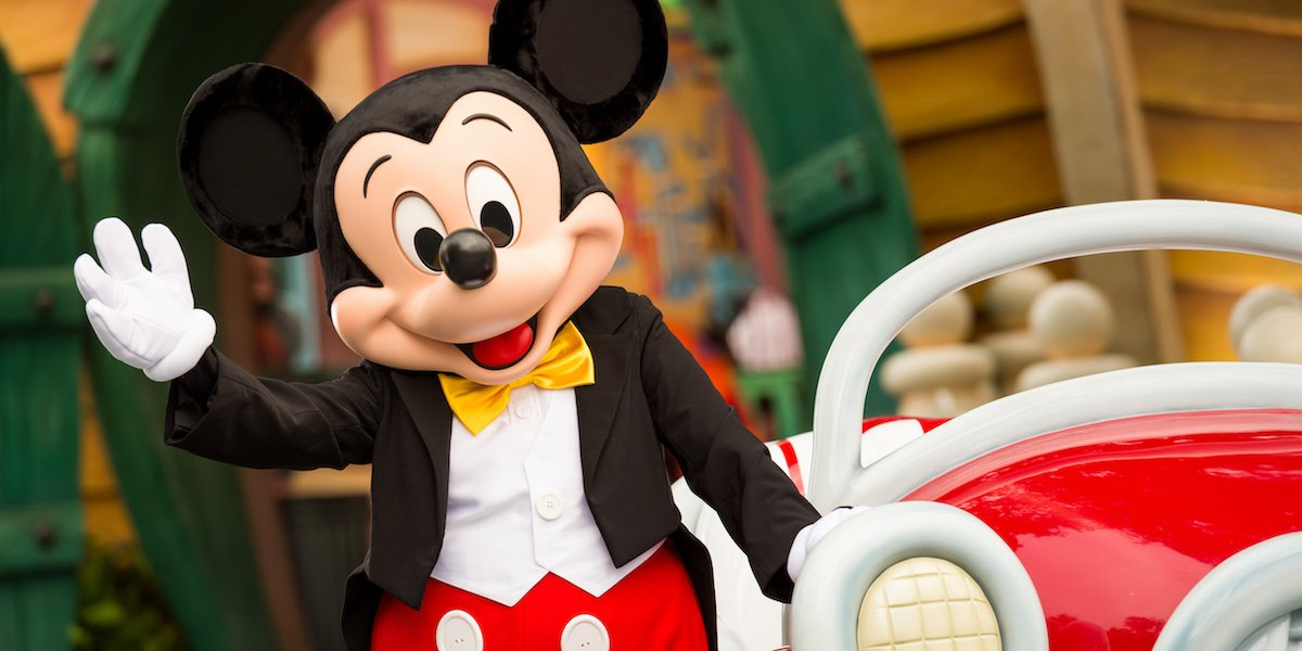 Mickey Mouse character at Disney World