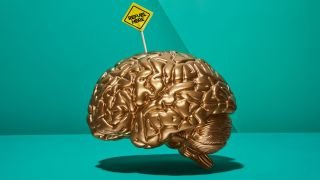 Blue Monday: brain with a sign in it that says 'refuel here'