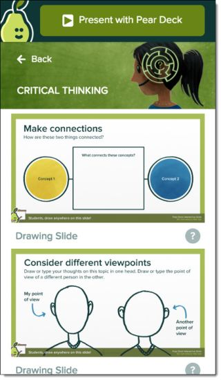 New Pear Deck Critical Thinking Templates for Google Slides