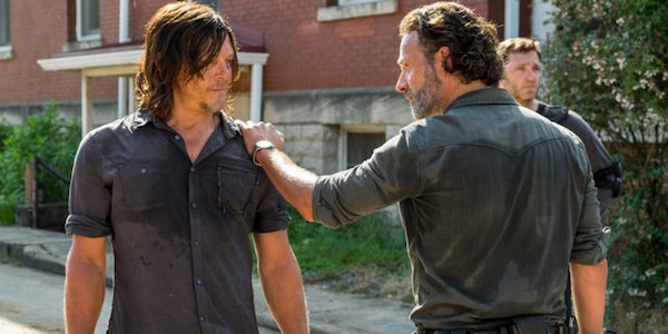 Daryl and Rick on The Walking Dead