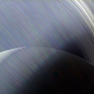 Hazy Saturn and its rings June 23, 2013