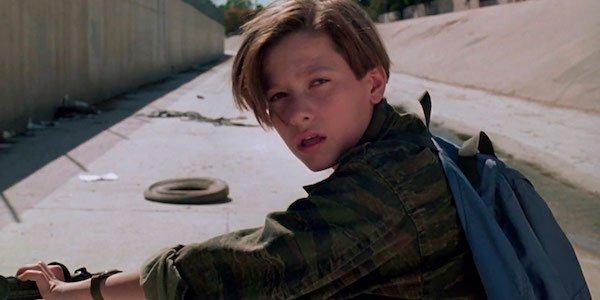 John Connor on his bike in Terminator 2