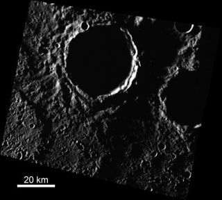 Mercury North Pole Craters