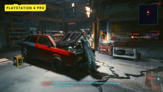 Cyberpunk 2077 on PS4 Pro