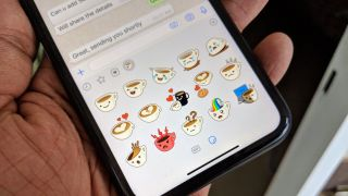 Facebook Owned Instant Messaging Platform Whats Now Has A Stickers Feature In Its New Version 2 18 Shows Third Icon Next To The Emoji And