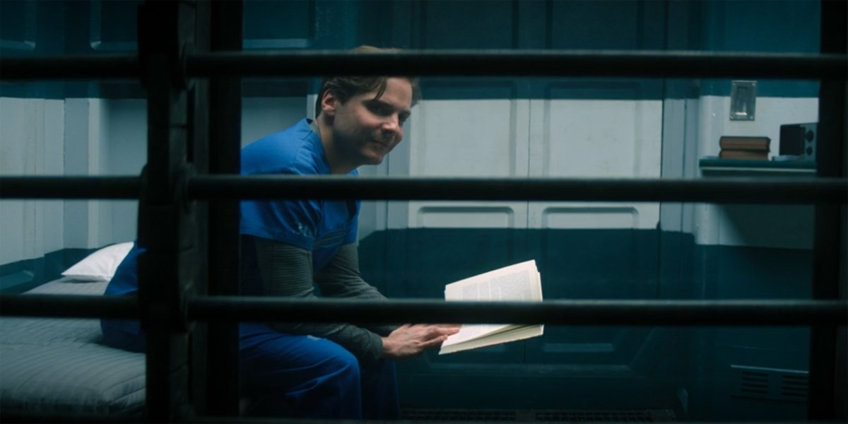 Zemo smiles in his prison cell The Falcon And The Winter Soldier