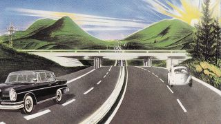 Cover art for Kraftwerk's Autobahn