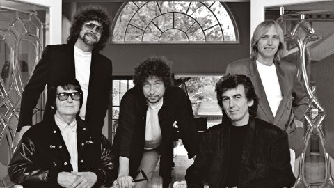 The Traveling Wilburys band photograph