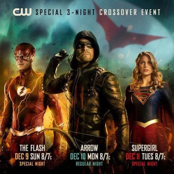arrow-verse crossover bat-signal