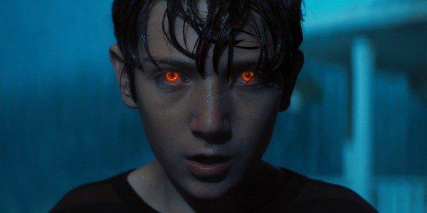 Bradon's eyes glowing in Brightburn