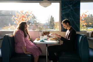 Annie sits down at a diner with a friend on 'Shrill'