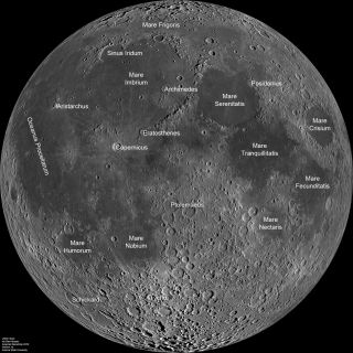 NASA Moon with Labels
