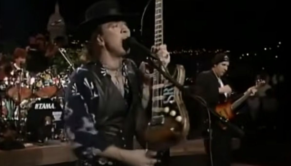 Watch Stevie Ray Vaughan Make the Slickest Guitar Swap of All Time