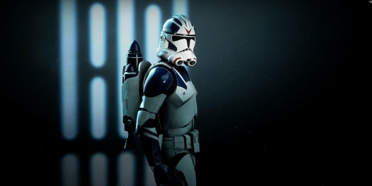 A jet trooper (stormtrooper with a jetpack) from the Star Wars: Battlefront II video game
