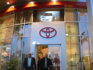 Windows of Huntington Beach Toyota Come Alive With Digital Display