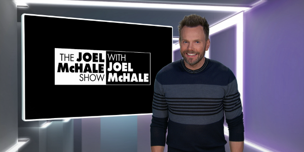 Promotional still of Joel McHale in his new Netflix series The Joel McHale Show with Joel McHale