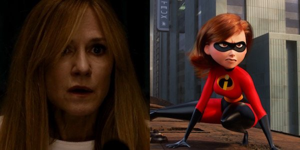 Holly Hunter and Elastigirl