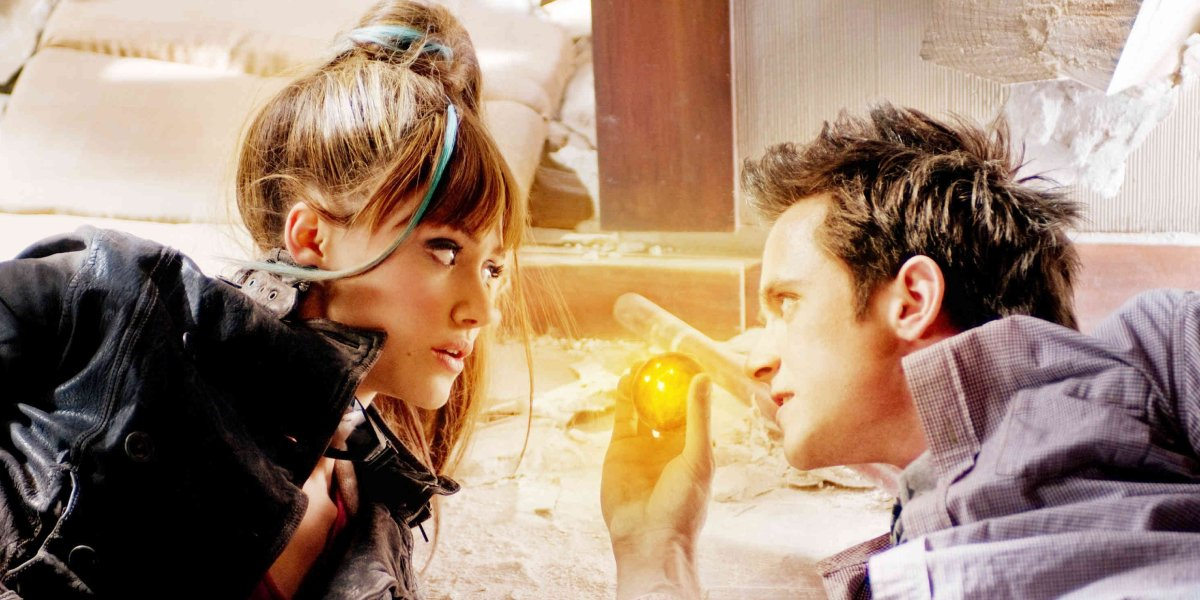 Emmy Rossum and Justin Chatwin in Dragonball Evolution