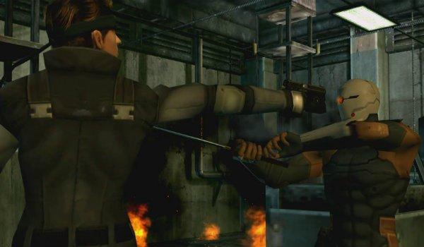 Metal Gear Solid Solid Snake vs Grey Fox