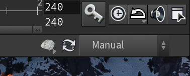 The Manual cook mode button in Houdini