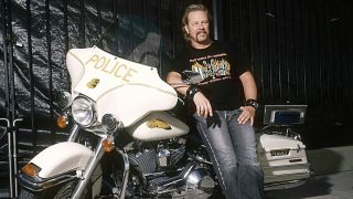 James Hetfield with motorcycle