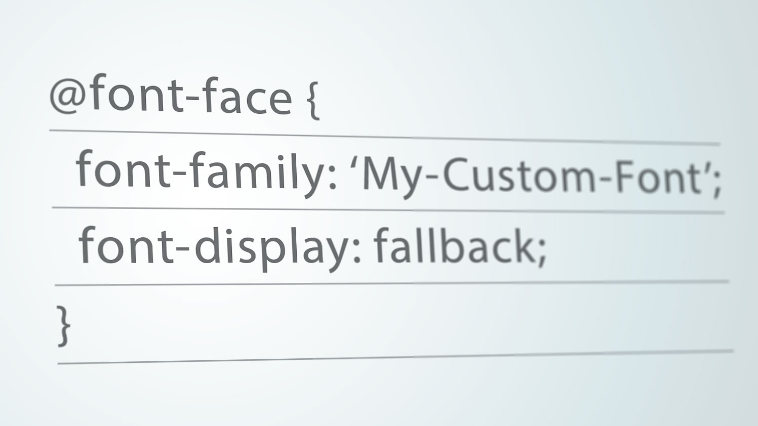 Control web typography with CSS font display