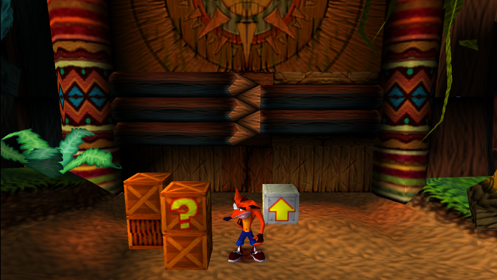 Crash Bandicoot 1 in the Native Fortress level