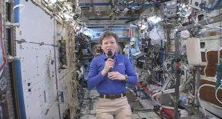 Peggy Whitson Talks from ISS